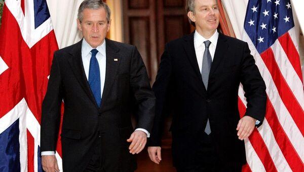 George Bush ve Tony Blair - Sputnik Türkiye