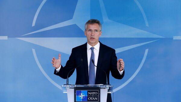 NATO Secretary-General Jens Stoltenberg briefs the media during a NATO defence ministers meeting at the Alliance headquarters in Brussels, Belgium, June 14, 2016 - Sputnik Türkiye