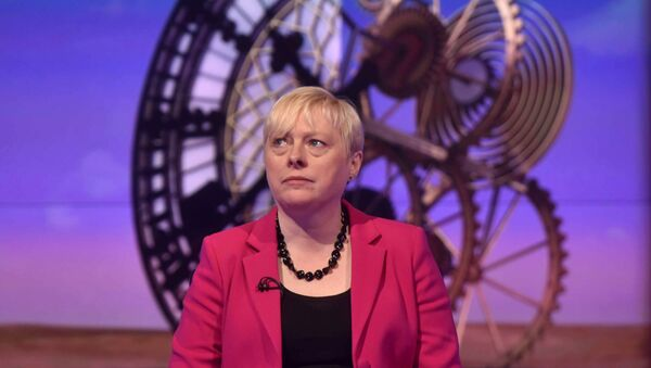 Former Labour Party Business policy chief Angela Eagle speaks on the BBC's Sunday Politics show in this photograph received via the BBC in London, Britain July10, 2016 - Sputnik Türkiye