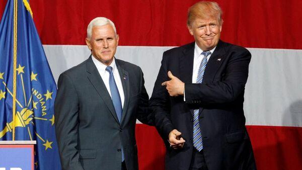 Donald Trump - Mike Pence - Sputnik Türkiye