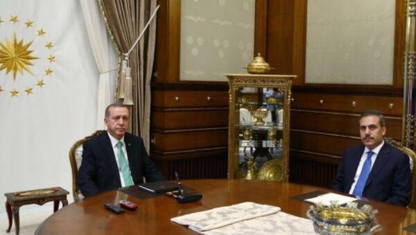 Tayyip Erdoğan - Hakan Fidan - Sputnik Türkiye