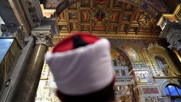 İtalya'daki Müslümanlar pazar ayinine katıldı. - Sputnik Türkiye