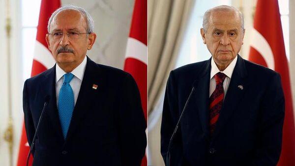 CHP Genel Başkanı Kemal Kılıçdaroğlu ile MHP Genel Başkanı Devlet Bahçeli - Sputnik Türkiye