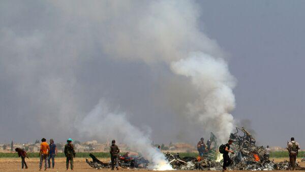 İdlib'de Rus helikopteri düşürüldü - Sputnik Türkiye