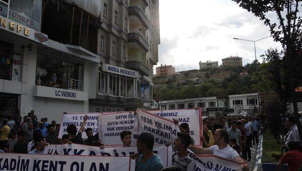 Hakkarililer sokağa döküldü:  Referandum talep ediyoruz - Sputnik Türkiye