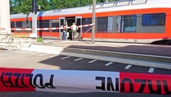 İsviçre'de saldırının yaşandığı tren - Sputnik Türkiye