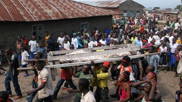 Demokratik Kongo Cumhuriyeti'nde bir cenaze töreni - Sputnik Türkiye
