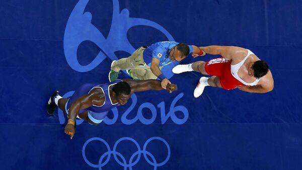Rıza Kayaalp - Mijaín López / Rio Olimpiyat Oyunları - Sputnik Türkiye