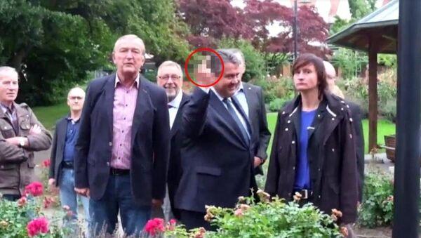 Sigmar Gabriel, Neo-Nazi gençlere orta parmağını gösterdi - Sputnik Türkiye