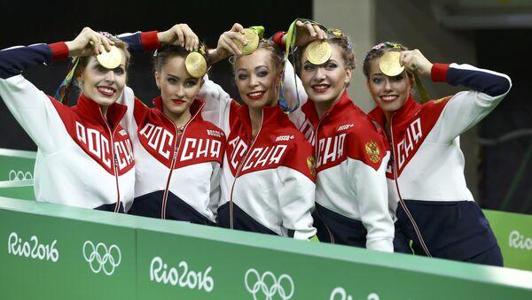 Rusya ritmik jimnastik olimpiyat takımı / Rio Olimpiyat Oyunları - Sputnik Türkiye