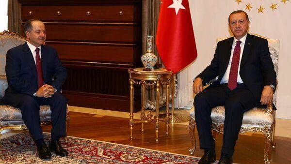 Mesud Barzani - Recep Tayyip Erdoğan - Sputnik Türkiye