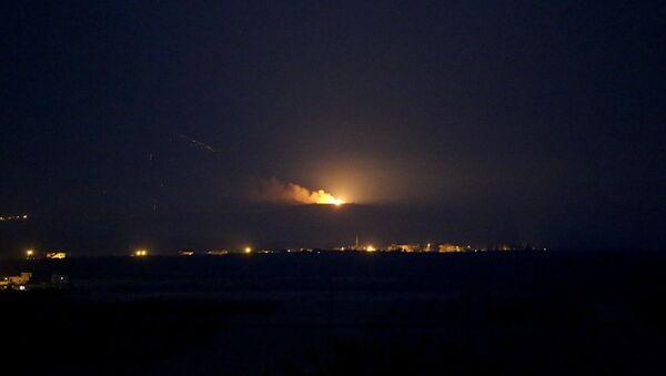 Cerablus'a harekatın gece 04.00'te başladığı kaydedildi. - Sputnik Türkiye