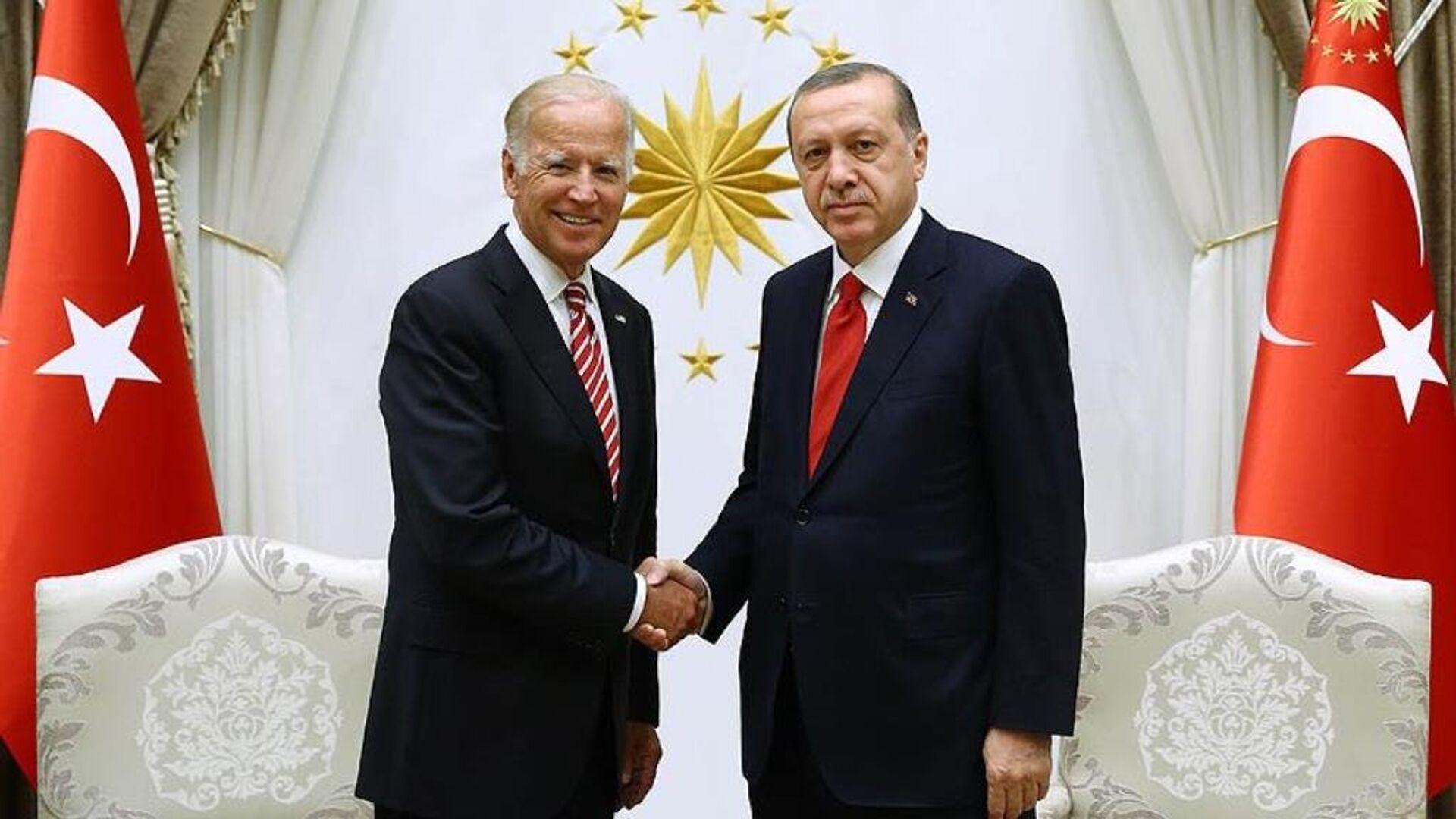 Joe Biden ve Recep Tayyip Erdoğan - Sputnik Türkiye, 1920, 05.06.2021