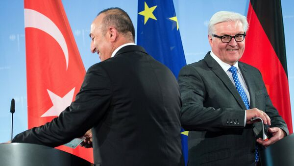 Mevlüt Çavuşoğlu - Frank Walter Steinmeier - Sputnik Türkiye