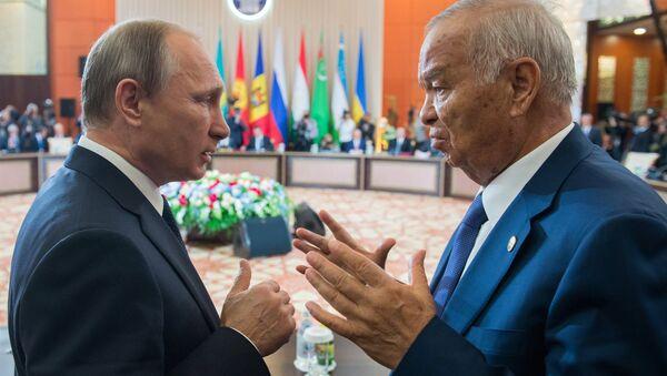 Rusya Devlet Başkanı Vladimir Putin- Eski Özbekistan Devlet Başkanı İslam Kerimov - Sputnik Türkiye