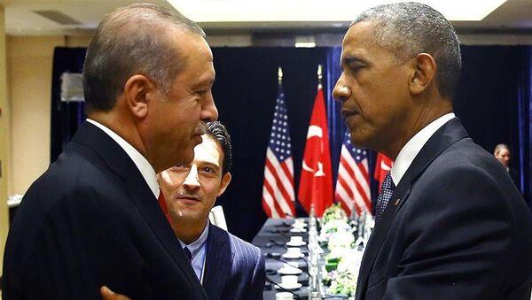 Cumhurbaşkanı Erdoğan ile ABD Başkanı Obama - Sputnik Türkiye