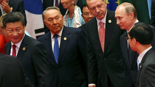 Şi Cinping - Nursultan Nazarbayev - Recep Tayyip Erdoğan - Vladimir Putin - Sputnik Türkiye