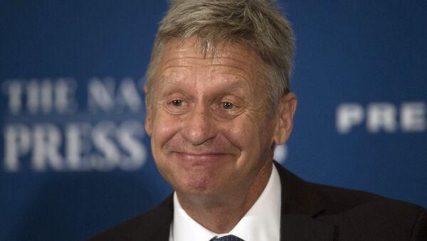 ABD'deki başkanlık seçimlerinin Liberteryen Partili adayı Gary Johnson - Sputnik Türkiye