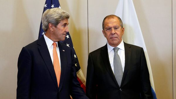 Rusya Dışişleri Bakanı Sergey Lavrov ve ABD'li meslektaşı John Kerry - Sputnik Türkiye