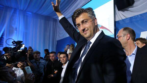 HDZ Genel Başkanı Andrej Plenkoviç - Sputnik Türkiye