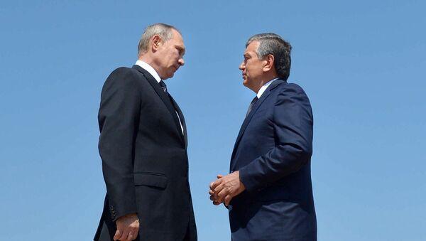 Rusya Devlet Başkanı Vladimir Putin- Özbekistan Geçici Devlet Başkanı Şevket Mirziyoyev - Sputnik Türkiye