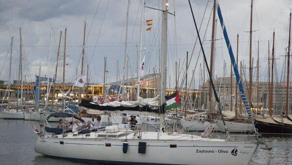 Gazze'ye yardım götüren 'Zaytouna' isimli gemi - Sputnik Türkiye