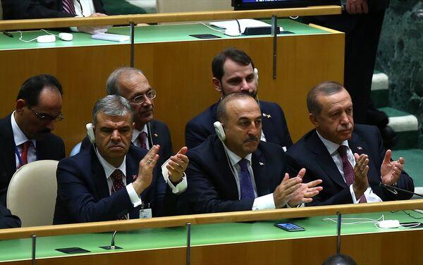 Cumhurbaşkanı Recep Tayyip Erdoğan, BM Genel Kurulu genel görüşmelerine katıldı. - Sputnik Türkiye