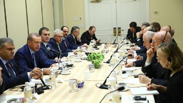 Cumhurbaşkanı Recep Tayyip Erdoğan, ABD'deki Yahudi kuruluşların temsilcileriyle - Sputnik Türkiye