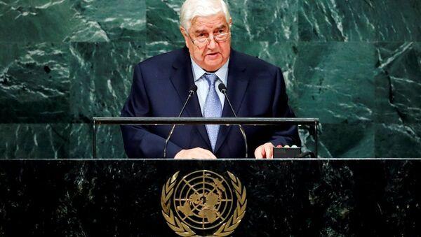 Suriye Dışişleri Bakanı Velid Muallim BM Genel Kurulu'na seslendi - Sputnik Türkiye
