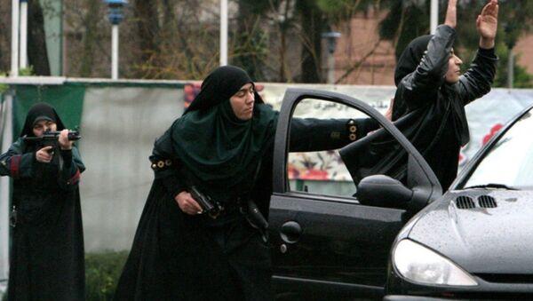 İran kadın çevik kuvvet birimi - Sputnik Türkiye