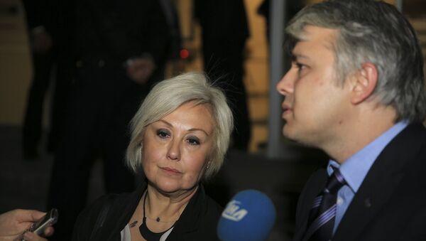 Şengül Hablemitoğlu, öğle saatlerinde avukatı Ersan Barkın ile geldiği Ankara Adliyesi'nde, Anayasal Düzene Karşı İşlenen Suçları Soruşturma Bürosu'ndan sorumlu Cumhuriyet Başsavcıvekili Necip Cem İşçimen'e ifade verdi. - Sputnik Türkiye