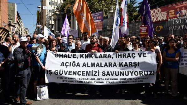 Sendika ve STK'lardan KHK protestosu - Sputnik Türkiye