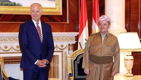 ABD Başkan Yardımcısı Joe Biden - Irak Kürt Bölgesel Yönetimi Başkanı Mesud Barzani - Sputnik Türkiye