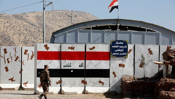 Türk askerlerinin de eğitim verdiği Irak'ın Musul kentine bağlı Başika'daki Zalikan Kampı - Sputnik Türkiye