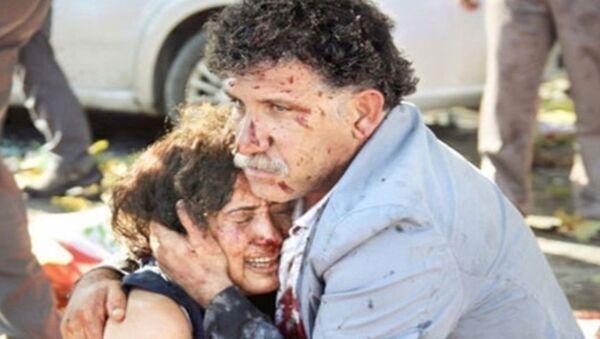 10 Ekim Ankara Gar katliamında kızını ve kardeşini yitiren, eşi de ağır yaralanan İzzettin Çevik - Sputnik Türkiye