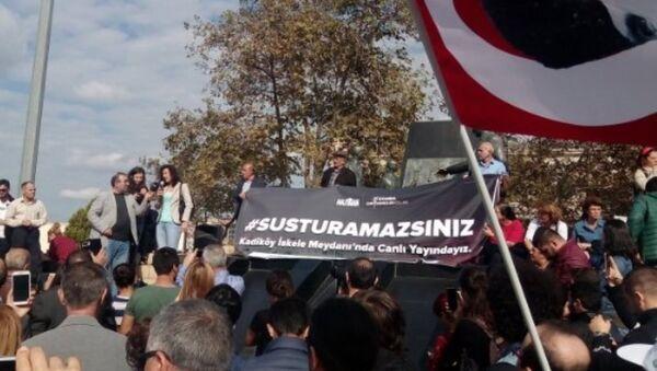 Kadıköy'de Susturamazsınız eylemi - Sputnik Türkiye