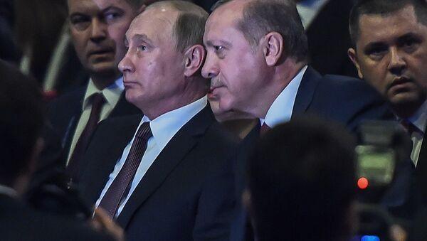 Dünya Enerji Kongresi- Rusya Devlet Başkanı Vladimir Putin- Türkiye Cumhurbaşkanı Recep Tayyip Erdoğan - Sputnik Türkiye