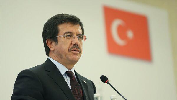 Ekonomi Bakanı Nihat Zeybekci, İstanbul Conrad Otel'de gerçekleştirilen Türkiye-Rusya İş Konseyi 18. Ortak Toplantısı'nda konuşma yaptı. - Sputnik Türkiye