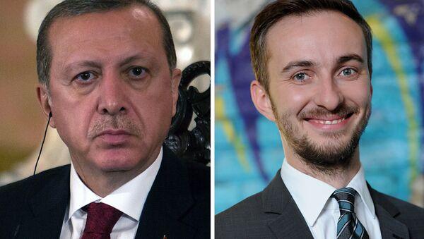 Cumhurbaşkanı Erdoğan ve Alman komedyen Jan Böhmermann - Sputnik Türkiye