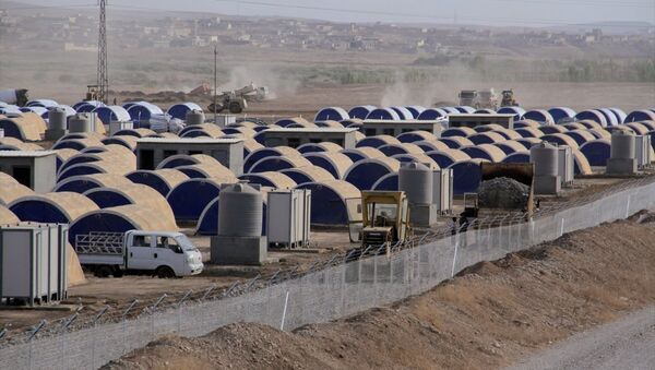 Musul'un Hazır ilçesinde kurulan çadırkent - Sputnik Türkiye