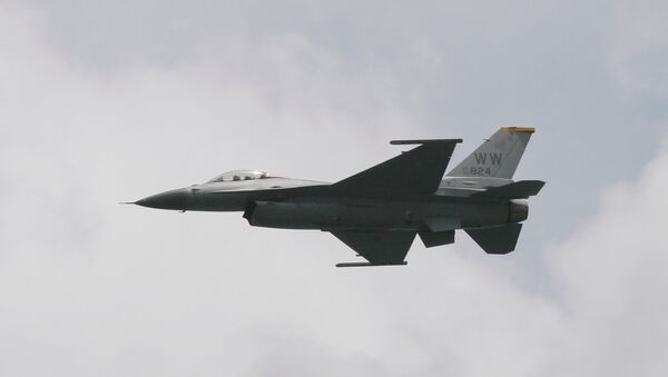 ABD Hava Kuvvetleri'ne ait F-16 savaş jeti - Sputnik Türkiye