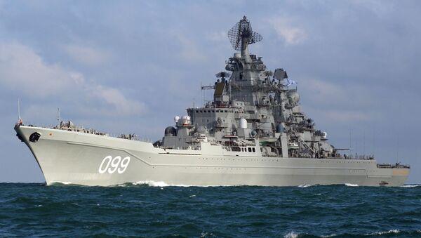 Velikiy Pyotr (Büyük Petro) ağır nükleer füze kruvazörü. - Sputnik Türkiye