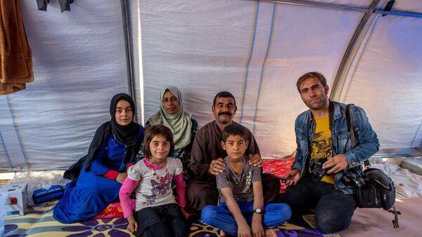 Musul'dan kaçan sığınmacılar Hazır'daki çadırkentte - Sputnik Türkiye