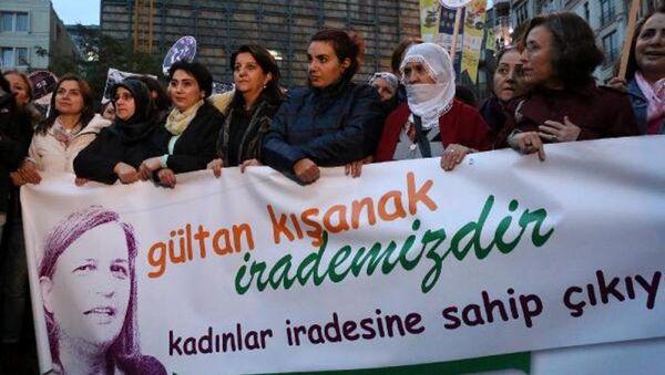 Taksim - Kışanak ve Anlı gözaltı protestosu - Sputnik Türkiye