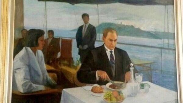 Yaşar Çallı tarafından yapılan Atatürk tablosu - Sputnik Türkiye