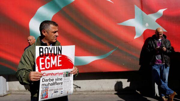 Cumhuriyet gazetesi önündeki eylemden - Sputnik Türkiye