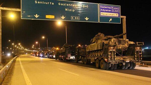 Şırnak'a giden askeri konvoy Gaziantep'te - Sputnik Türkiye