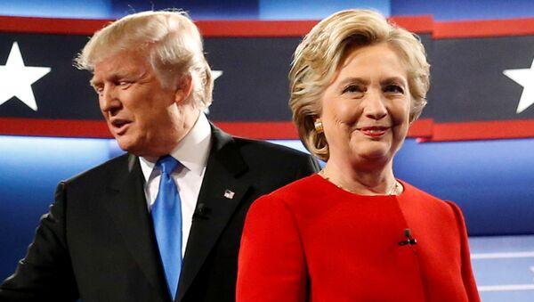 Donald Trump ve Hillary Clinton - Sputnik Türkiye