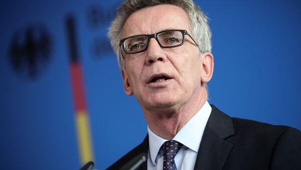 Almanya İçişleri Bakanı Thomas De Maiziere - Sputnik Türkiye