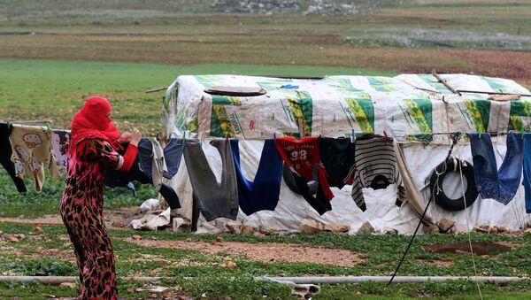 Lübnan'daki Suriyeli sığınmacılar - Sputnik Türkiye